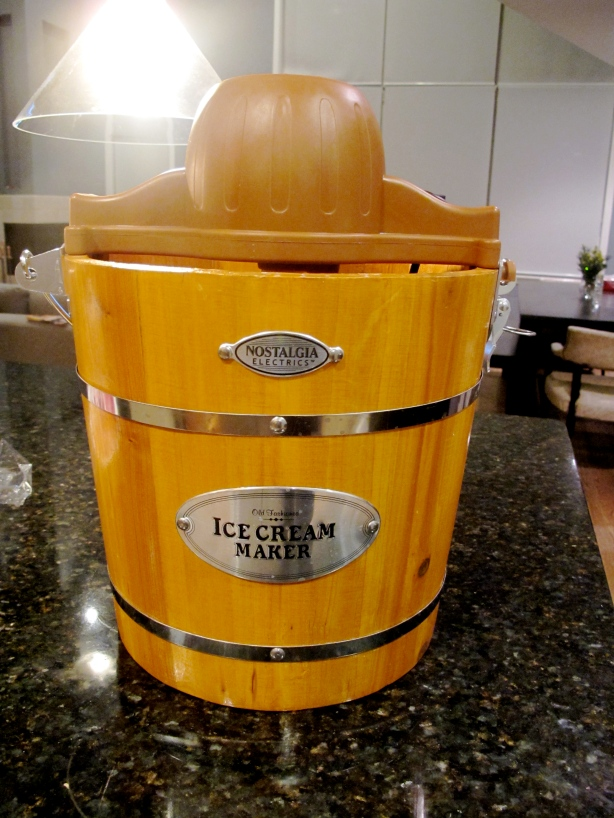How cute is this?  Sure, it might be more economical to get the KitchenAid attachment, but this wooden bucket is awesome.